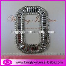 55mm Rectangle beads Clusterl Ribbon Rhinestone Buckle Sliders ,Shoe Buckle,Belt buckles LX-A33
