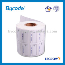 Self adheisve roll best selling drug label/label for printing