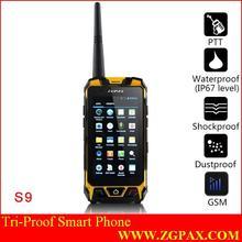 Tri-proof smart phone IP67 2014 PTT ZGPAX walkie talkie manufacturers