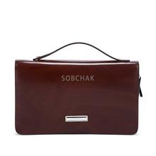 Sobchak 3p wholesale genuine leather men clutch bags, travel wallet leather