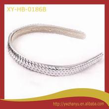 fashion sparkle silver headband sequin plain alice band