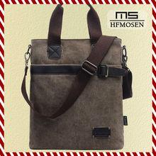 B50212 Wholesale fashion shoulder Messenger Cross Mobile casual men's canvas bag