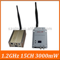 Mikrowelle 1,2 ghz 3000mw tragbare lange Reichweite wireless-video-audio sender-empfänger