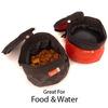 dog foldable pet travel bowl