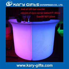 Modern Design Home Coffee Table LED Glowing Bar Counter Lighting