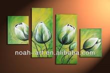 Handmade Beautiful Group Magnolia Flower Oil Painting