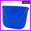 Bowknot Zipper Shoulder Bag Silicone Satchel for Girl