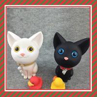 Kids cheap plastic piggy banks plastic cat money box