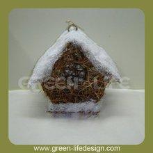 House shape unique rattan bird house