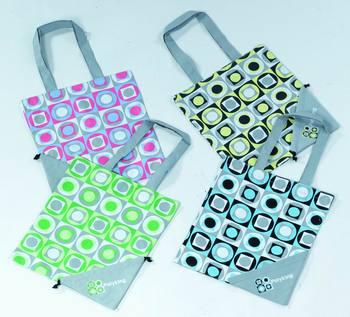 Promotion cartoon design cheap foldable shopping bag wholesale