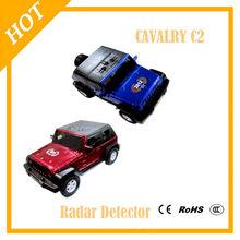 Car Speed Control Detector English Voice Wrangler Model Car Anti Radar Detector C2