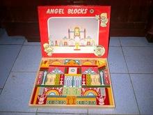 Vintage Wooden Block Toys Angel Block