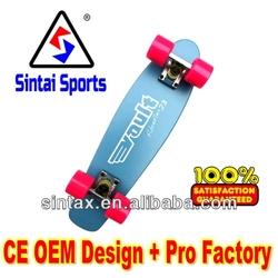 """Vault Fibreflex 23"""" Skateboard Yellow Fiberglass/Maple Deck 3"""" Truck"""