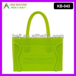 Smiling Designer Handbag Silicone Shopping Bag for Lady
