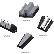 Rubber Liner Ball Mill Bell/Liner plate, grid plate,mill door liner
