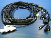SCSI Ribbon 100P + 4.2 mm Mini Fit Housing To SCSI 20P*5Pcs+ 4P POWER DIN PLUG *5PCS Cable