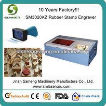 Sm3020kz carimbo de borracha máquina de corte a laser