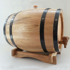 Used wooden wine barrels