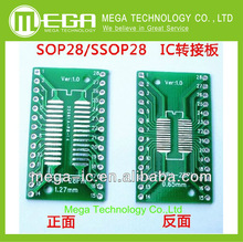 20PCS/LOT SO/SSOP/SOIC/MSOP TSSOP28 / TSSOP20 turn DIP28 1.27MM / 0.65MM turn 2.54MM IC adapter Socket / Adapter plate / PCB