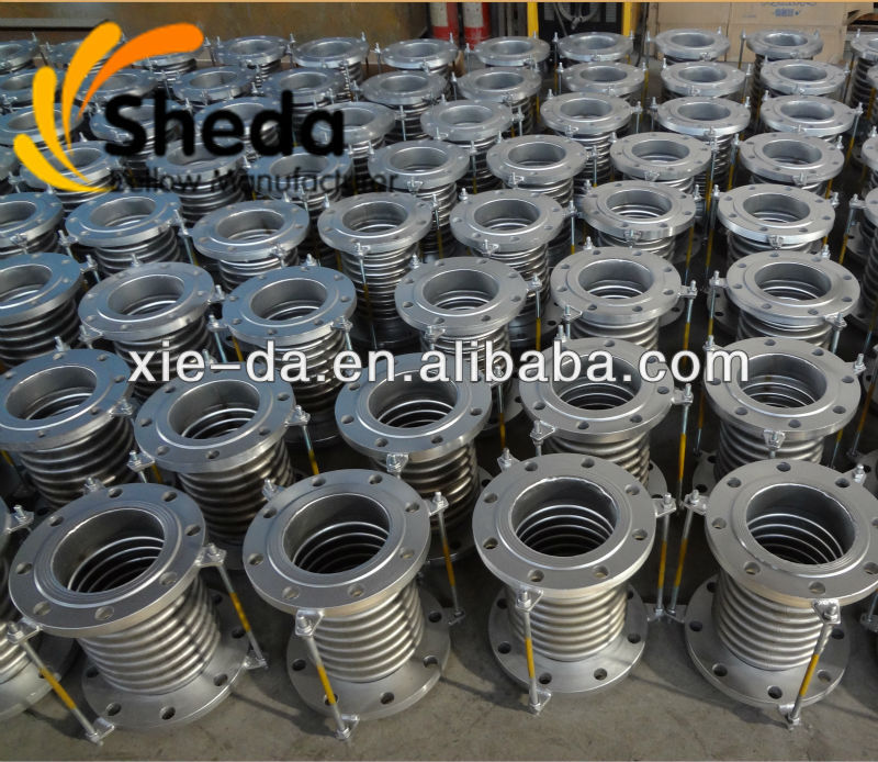 Carbon steel flange stainless steel metal compensator