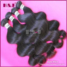 H&J Top Quality Hot Sale Unporcessed 100% Virgin Hair Meche