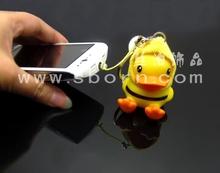 cell phone anti dust plug Rubber Duck dust plug Keychains