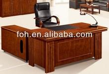 commercial executive desk, walnut executive desk, wood veneer executive desk (FOHS-A1800)