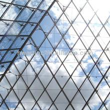 Point fixed laminated glass skylight