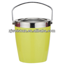yellow/metal ice bucket with sealed lid and handle any color to choose