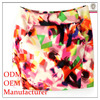 2014 latest fashion garment factory ladies short printed super mini skirt