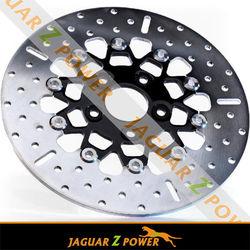 Jaguar Z Power Chrome Black Brakes Discs Rotors for Two Pieces twins