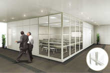 Moveable high spec office partitions by original wall partition system