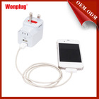 Top quality 1000ma 5v patent item travel adapters plugs with best price and high quality .