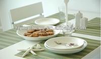PVC/Polyester mat /jacquard weave placemat cup mat