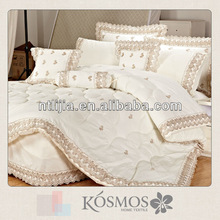 Embroidery lace 100% cotton comforter sets