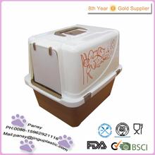 fashion square plastic cats litter box with plastic shovel