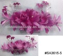 fashion artficial flowers/simulation flowers hair accessories hair comb hair clip