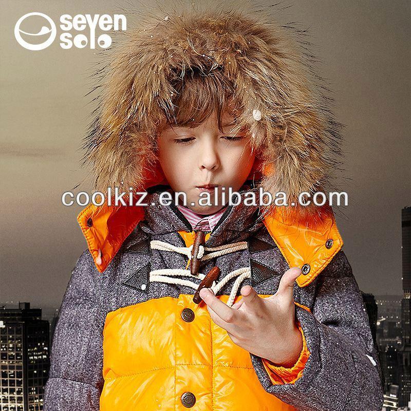 أحدث تصميم لباس الطفل 2014 الصبي أزياء جديدة 2012 الشتاء بانخفاض سترة ملابس الأطفال