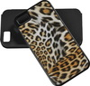 leopard pu leather for iphone 5 case