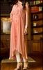 New design peach color stylish casual kurta Pakistani long kurta/ kurti for girls new style