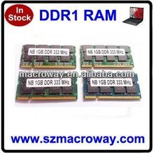 1GB DDR SDRAM Memory Module - 1GB - 333MHz DDR333/PC2700 - DDR SDRAM - 200-pin SoDIMM