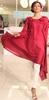 Rose Red stylish fashion kurti Pakistani Indian designer kurti