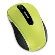 Microsoft Wireless Mobile Mouse 4000 - Lime Green
