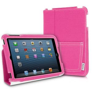 XtremeMac Microfolio Case for iPad Mini, Pink Denim