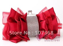 2012 new Wholesale price-retail free shipping fine silk with diamond evening bags, hand bags 22cm*12cm*3.5cm ,NO 983