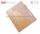 Gold stamped elegant paper file folder printing from India
