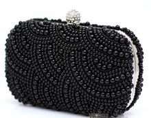 2013 Women's Pearls Full Sided Beaded Evening Bag Fashion Hot Selling Handbags Wild Briadl Dress Banquet Bags NO7535