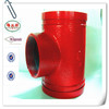 FM approved grooved pipe fittings DN80*65s reducing tee(threaded)