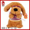 Soft plush animals dressed dog plush electronic toys