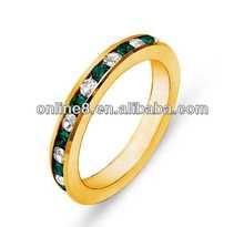 Exquisite Full Diamond Stainless Steel Ring children\s swimming rings